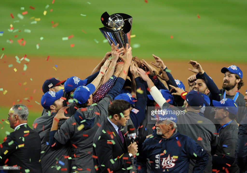 BASEBALL: MAR 22 World Baseball Classic Championship  - USA v Puerto Rico : News Photo