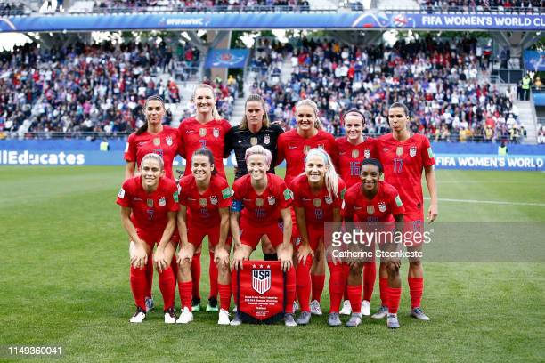 Team USA poses for a photo before the 2019 FIFA Women's World Cup France group F match between USA and Thailand at Stade Auguste Delaune on June 11...