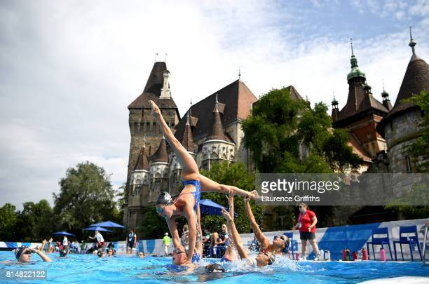 Team USA train on day two of the Budapest 2017 FINA World Championships on July 15 2017 in Budapest Hungary