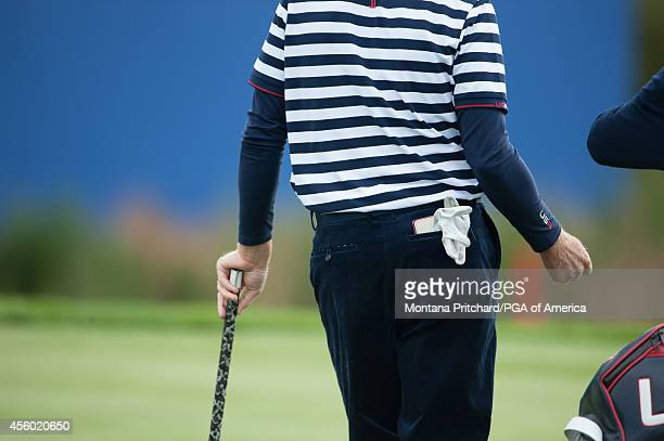 Team USA uniform detail during a practice round for the 40th Ryder Cup at Gleneagles on September 24 2014 in Auchterarder Scotland