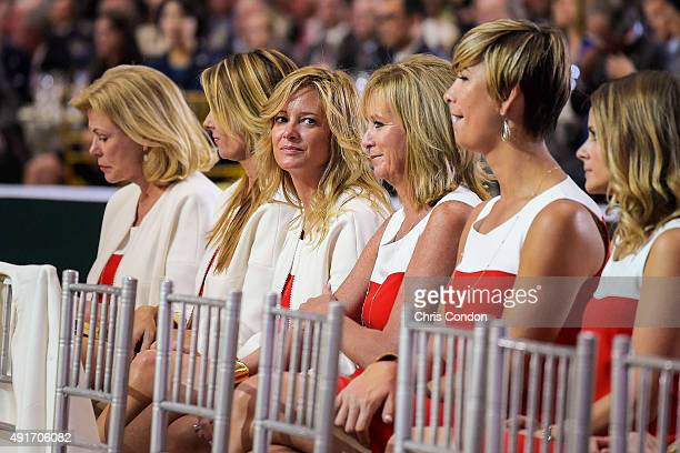 Team USA wives and girlfriends Jan Haas Suzanne Hannemann Tabitha Furyk Robin Love Angie Watson and Tahnee Kirk attend The Presidents Cup Opening...