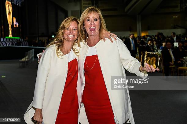 Team USA wives and girlfriends Tabitha Furyk and Jan Haas leave following The Presidents Cup Opening Ceremony at Songdo Convensia on October 7 2015...