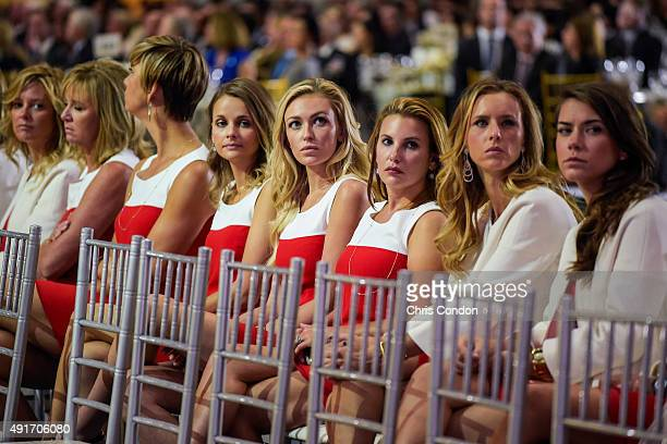 Team USA wives and girlfriends Tabitha Furyk Robin Love Angie Watson Tahnee Kirk Paulina Gretzky Erica Holmes Erin Walker and Annie Verret attend The...