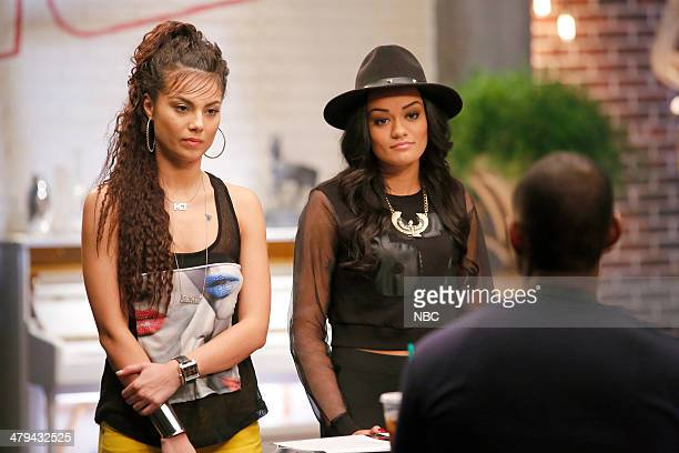 THE VOICE 'Team Usher Battle Reality' Episode 608 Pictured Melissa Jimenez Brittnee Camelle