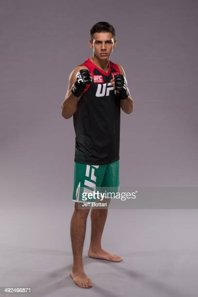 Team Velasquez fighter Yair Rodriguez poses for a portrait on media day during filming of The Ultimate Fighter Latin America on May 15 2014 in Las...