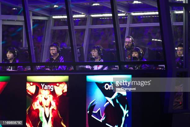 Team 'Vici Gaming' at the International 2019 Dota 2 World Championships at MercedesBenz Arena on August 24 2019 in Shanghai China