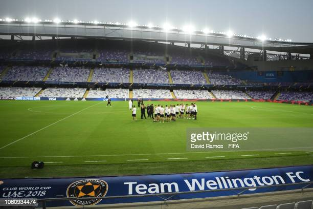 Team Wellington FC visit the stadium ahead of the FIFA Club World Cup UAE 2018 First Round match between Al Ain FC and Team Wellington FC at the...