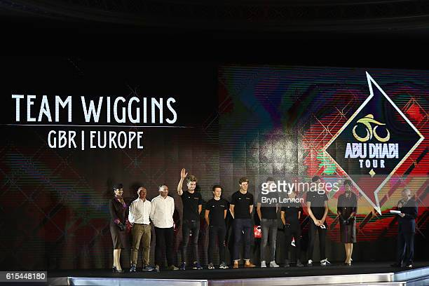 Team Wiggins attend the Team Presentation for the 2016 Abu Dhabi Tour at the 2nd UCI Gala Awards 2016 on October 18 2016 in Abu Dhabi United Arab...