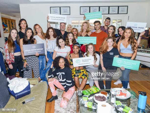 Team with Visual Snow Initiative at Visual Snow Initiative visits The Artists Project on April 25 2018 in Los Angeles California