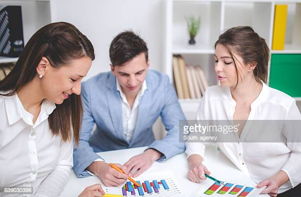 Team working in office
