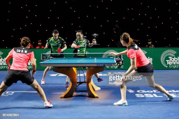 Team World Cup match between DING Ning LIU Shiwen of China and ITO Mima HAYATA Hina Finals Women doubles match on February 25 2018 in Copper Box...