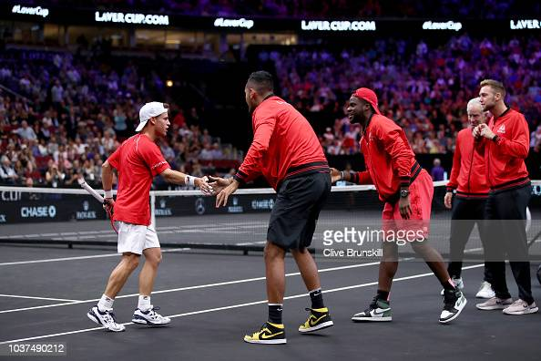 Team World Diego Schwartzman Of Argentina High Fives Team World Nick News Photo Getty Images