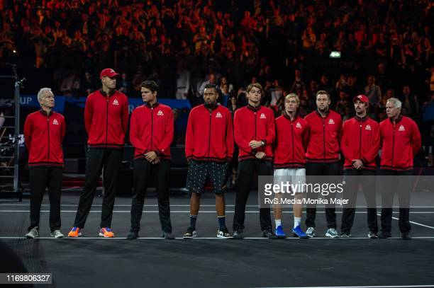 Team World during Day 1 of the Laver Cup 2019 at Palexpo on September 20 2019 in Geneva Switzerland The Laver Cup will see six players from the rest...