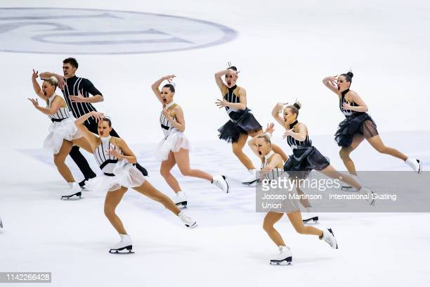 Team Zoulous of France perform in the Short Program during day one of the ISU World Synchronized Skating Championships at Helsinki Arena on April 12,...
