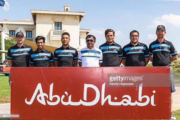 Team,left to right, David Condon, Performance Coach, Abdullah Al Qubaisi, Rashid Hamood, UAE Team Captain, Mubarak Al Shamsi, Ahmed Skaik, Khalid...