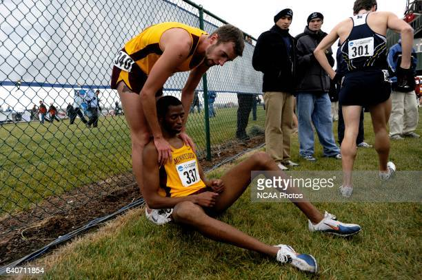Teammates Chris Rombough and Hassan Mead embrace after the finish of the 2008 NCAA Photos via Getty Images Men's Division I Cross Country...