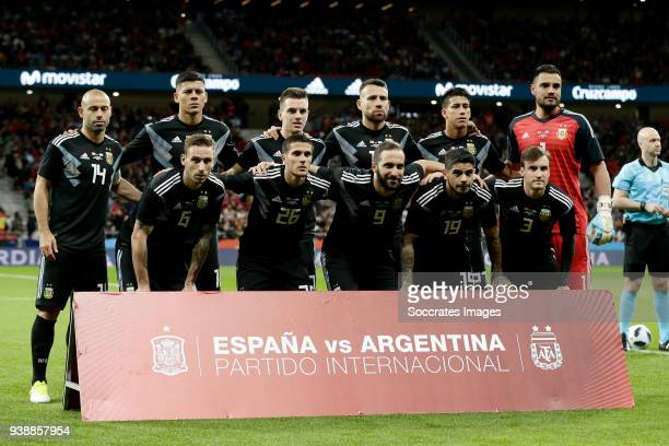 teamphoto Argentina during the International Friendly match between Spain v Argentina at the Estadio Wanda Metropolitano on March 27 2018 in Madrid...