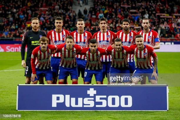teamphoto Atletico Madrid Back row Jan Oblak of Atletico Madrid Rodri of Atletico Madrid Lucas Hernandez of Atletico Madrid Savic of Atletico Madrid...