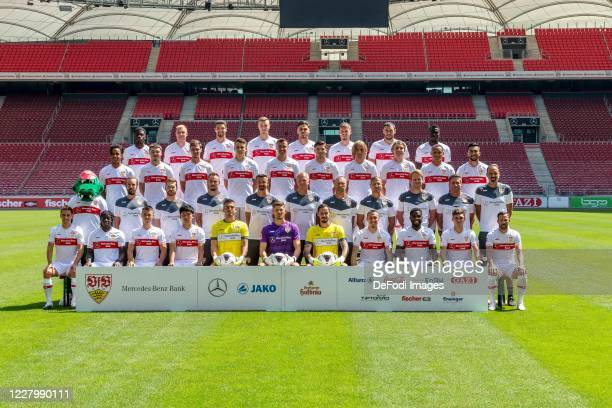 Teamphoto, first row from left to right Philipp Klement, Tanguy Coulibaly, Erik Thommy, Wataru Endo, goalkeeper Fabian Bredlow, goalkeeper Gregor...