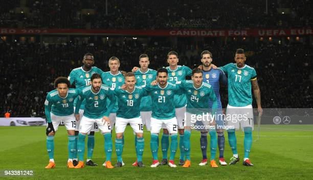 Teamphoto Germany during the International Friendly match between Germany v Brazil at the Olympiastadium on March 27 2018 in Berlin Germany