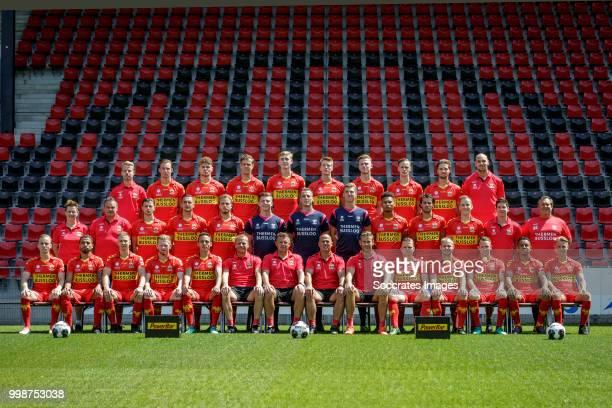 teamphoto Go Ahead Eagles back row Jelmer Sevenster Dennis Hettinga Julius Bliek Jeroen Veldmate Maarten Pouwels Rick Ketting Givan Werkhoven Sam...