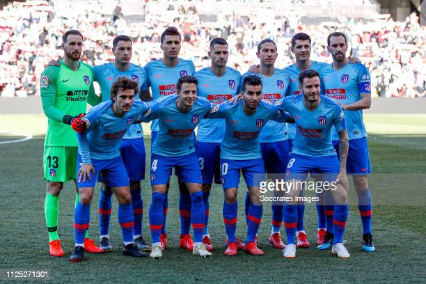 teamphoto of Atletico Madrid Jan Oblak of Atletico Madrid Jose Gimenez of Atletico Madrid Rodri of Atletico Madrid Vitolo of Atletico Madrid Filipe...