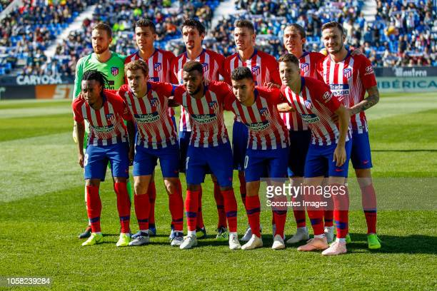teamphoto of Atletico Madrid Jan Oblak of Atletico Madrid Rodri of Atletico Madrid Savic of Atletico Madrid Lucas Hernandez of Atletico Madrid Filipe...