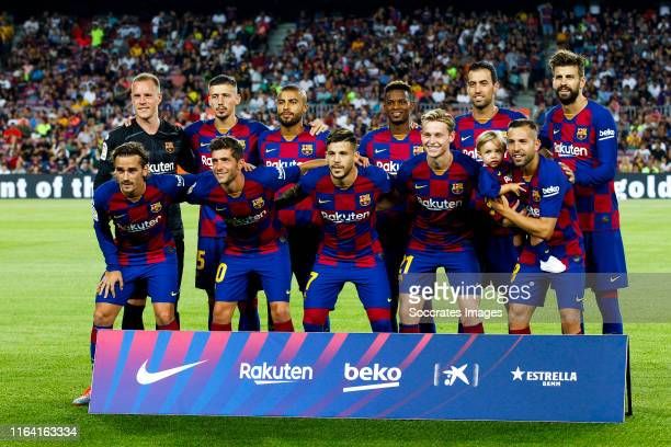 teamphoto of FC Barcelona Marc Andre ter Stegen of FC Barcelona Clement Lenglet of FC Barcelona Rafinha of FC Barcelona Nelson Semedo of FC Barcelona...