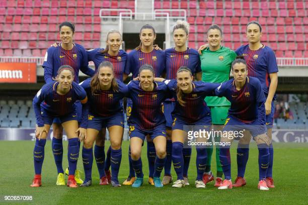Teamphoto of FC Barcelona Women Marta Torrejon Moya of FC Barcelona Women Toni Duggan of FC Barcelona Women Patricia Guijarro Gutierrez of FC...
