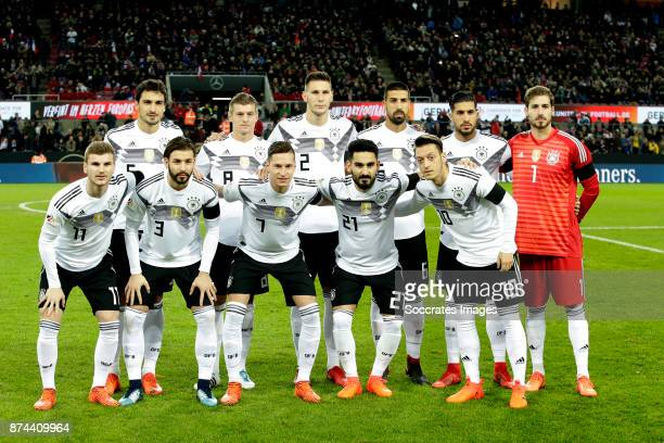 Teamphoto of Germany standing Mats Hummels of Germany Toni Kroos of Germany Niklas Sule of Germany Sami Khedira of Germany Emre Can of Germany Kevin...
