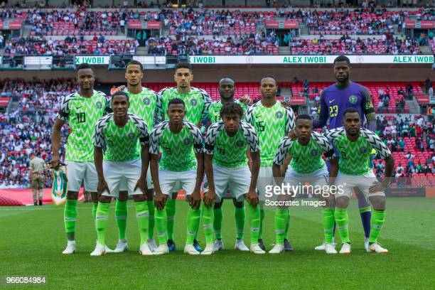teamphoto of Nigeria during the International Friendly match between England v Nigeria at the Wembley Stadium on June 2 2018 in London United Kingdom