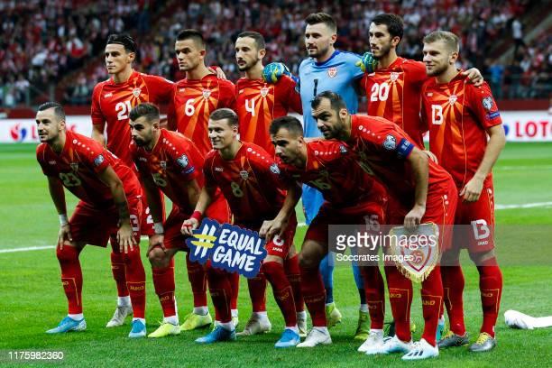Teamphoto of North Macedonia Eljif Elmas of North Macedonia, Visar Musliu of North Macedonia, Kire Ristevski of North Macedonia, Stole Dimitrievski...