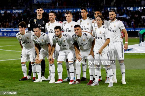 teamphoto of Real Madrid back row Thibaut Courtois of Real Madrid Sergio Ramos of Real Madrid Toni Kroos of Real Madrid Raphael Varane of Real Madrid...