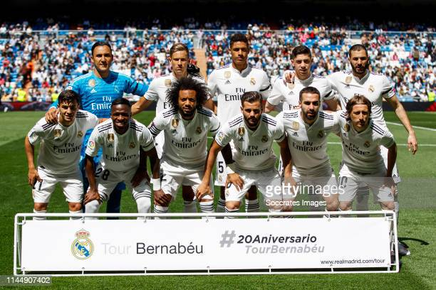 teamphoto of Real Madrid Keylor Navas of Real Madrid Marcos Llorente of Real Madrid Raphael Varane of Real Madrid Federico Valverde of Real Madrid...