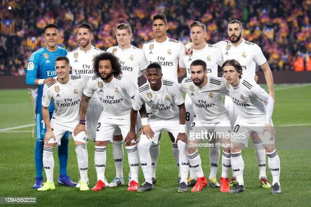 Teamphoto of Real Madrid standing Keylor Navas of Real Madrid Sergio Ramos of Real Madrid Toni Kroos of Real Madrid Raphael Varane of Real Madrid...