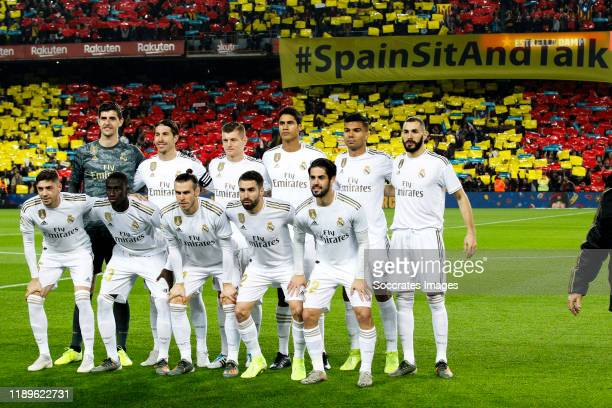 Teamphoto of Real Madrid Thibaut Courtois of Real Madrid, Sergio Ramos of Real Madrid, Toni Kroos of Real Madrid, Raphael Varane of Real Madrid,...