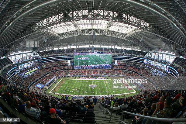 Teams are lined up for kickoff to start the Goodyear Cotton Bowl Classic on January 2 at ATT Stadium in Arlington TX