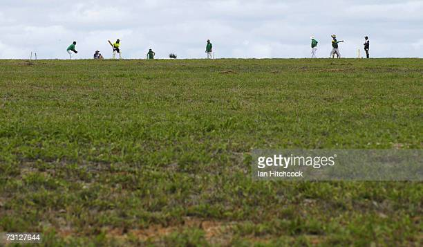 Teams compete during the Goldfield Ashes January 26 2007 in Charters Towers Australia Every Australia Day weekend the small outback town of Charters...
