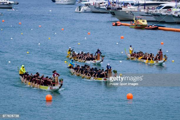 Teams competing during the Sun Life Stanley International Dragon Boat Championships on June 18 2018 in Hong Kong Hong Kong