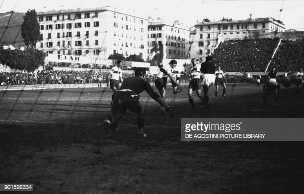 Teams during the football match Genoa Torino October 10 Luigi Ferraris stadium Italian Premier League 19371938 Genoa Italy 20th century