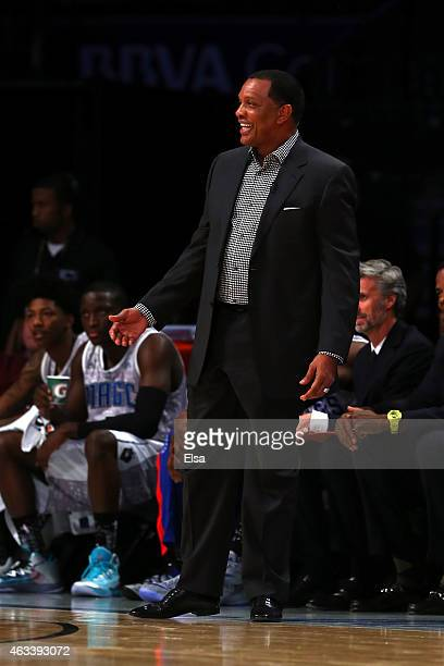 S Team's Head Coach Alvin Gentry of the Golden State Warriors looks on during the BBVA Compass Rising Stars Challenge as part of the 2015 NBA Allstar...