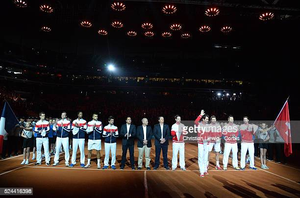 Teams in the Final of the Davis Cup 2014 in the Stadium Pierre Mauroy Villeneuve d'Ascq France on November 21st 2014 Photo by Christian Liewig