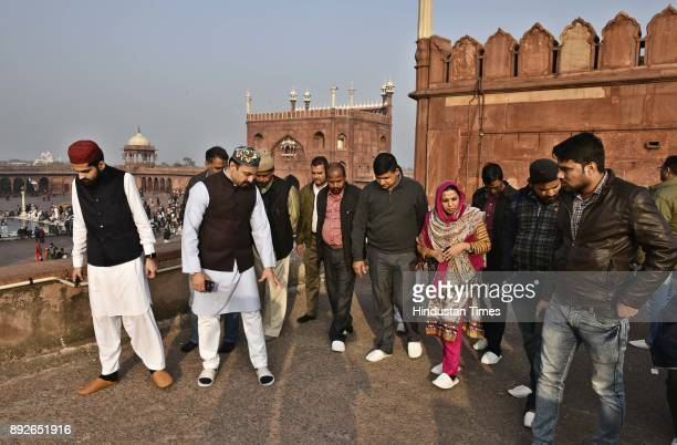Teams of Archaeological Survey of India National Disaster Management Authority and Delhi Wakf Board visited Jama Masjid for doing inspection of...