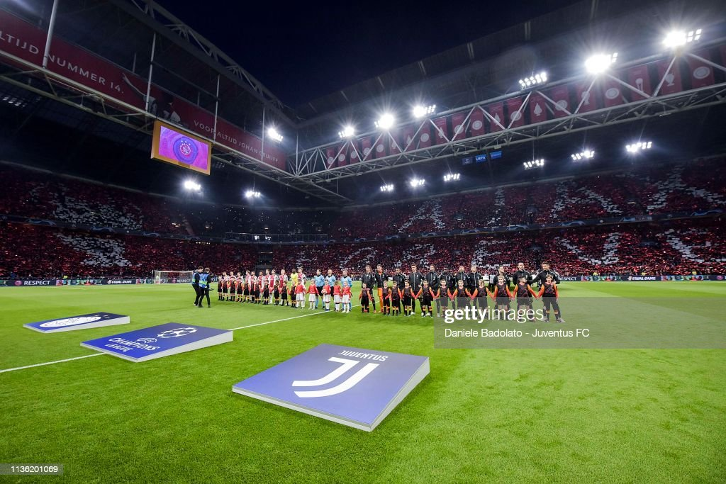 Ajax v Juventus - UEFA Champions League Quarter Final: First Leg : ニュース写真