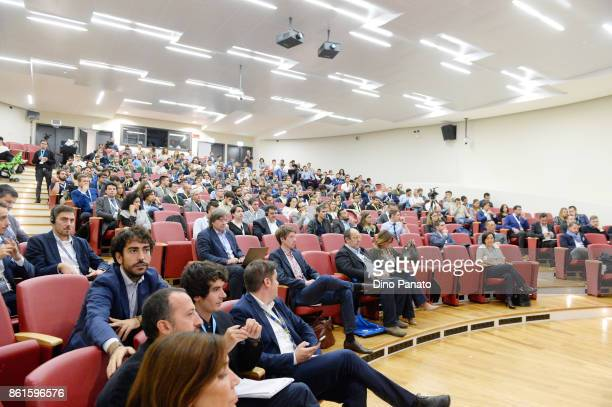 Teams participate in the second day of the Hackathon at the University of Letters on October 15 2017 in Trento Italy