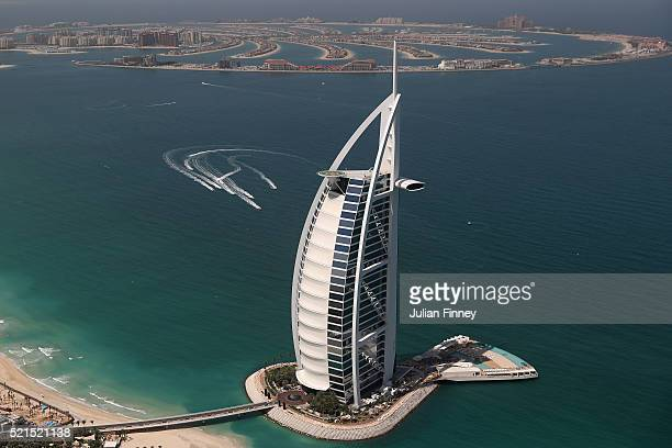 XCAT Teams Practice Near The Palm Jumeirah And Burj Al Arab During Dubai Grand Prix
