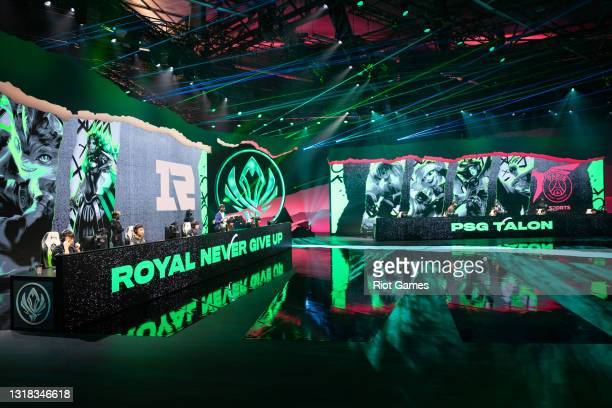 Teams Royal Never Give Up and PSG Talon at the 2021 MSI annual League of Legends Rumble Stage: Day 3 on May 16, 2021 in Reykjavik, Iceland.