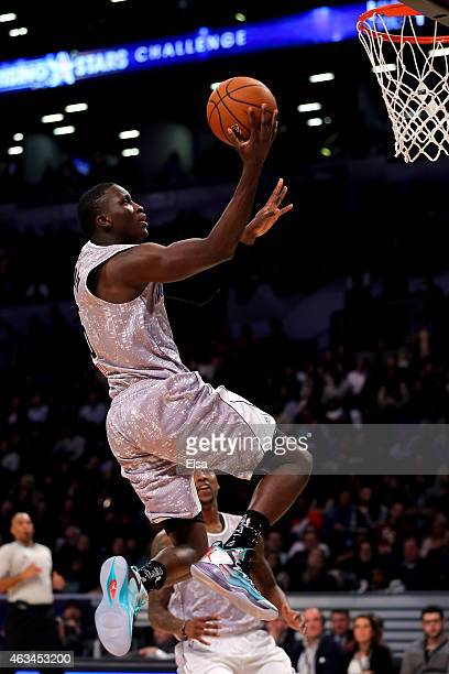 S Team's Victor Oladipo of the Orlando Magic in action during the BBVA Compass Rising Stars Challenge as part of the 2015 NBA Allstar Weekend at the...