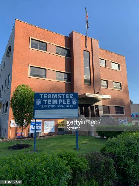 teamsters local 249 union hall in pittsburgh - international brotherhood of teamsters stock photos and pictures