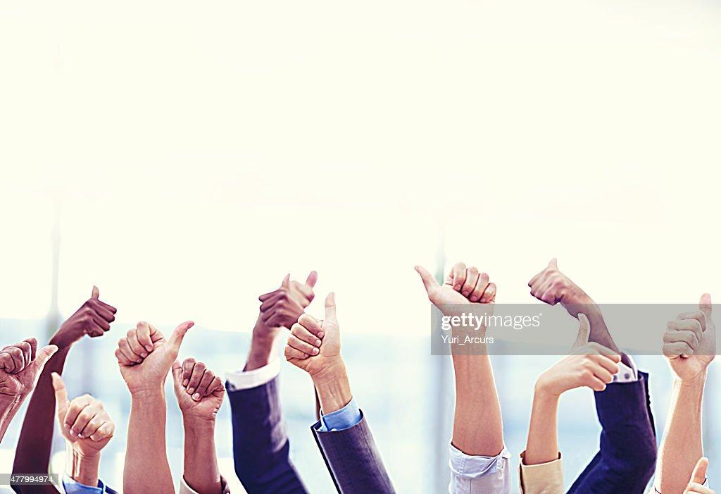 Teamwork always wins the day : Stock Photo